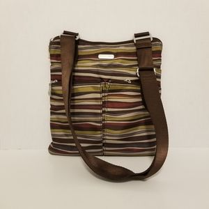 Baggallini Crossbody Travel Bag Abstract Stripes